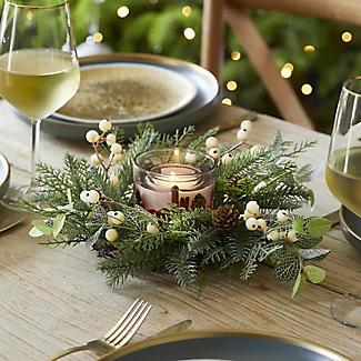 Festive Foliage Centrepiece Christmas Decoration alt image 2