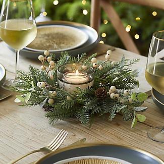 Festive Foliage Centrepiece Christmas Decoration alt image 3