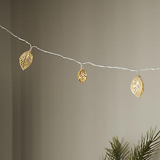 2m LED Golden Leaf Light String Christmas Decoration alt image 2