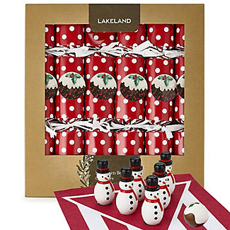 6 Lakeland Snowman Bowling Crackers
