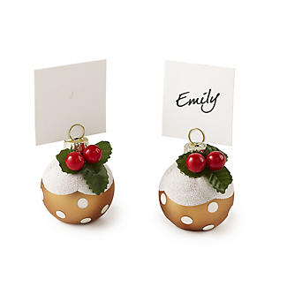 6 Christmas Pudding Bauble Place Settings