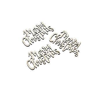 20pc Wooden Merry Christmas Confetti alt image 2
