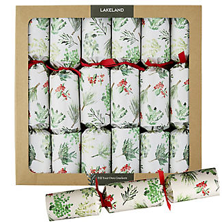 6 Lakeland Fill-Your-Own Evergreen Christmas Crackers