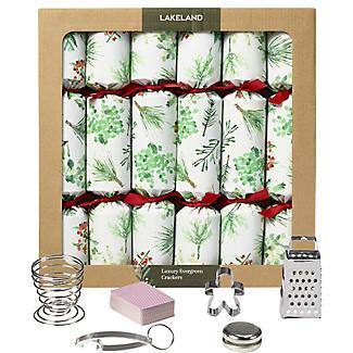 6 Lakeland Evergreen Luxury Christmas Crackers