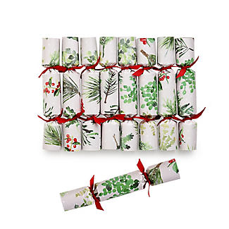8 Lakeland Evergreen Traditional Christmas Mini Saucer Crackers