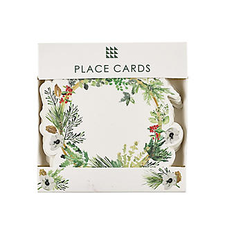 12 Lakeland Evergreen Traditional Christmas Place Cards  alt image 3