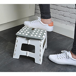 Folding Step Stool – Grey  alt image 2