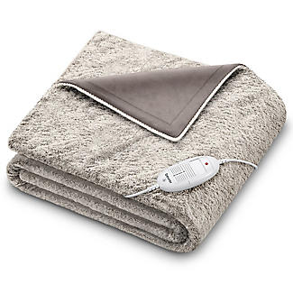 Beurer Furry Grey Heated Throw 130 x 180cm
