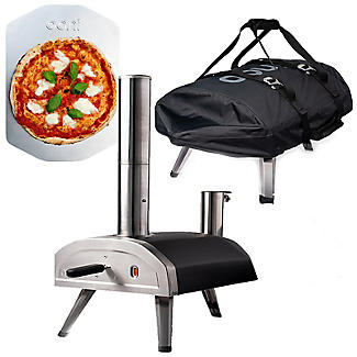 Ooni Fyra Wood-Fired Outdoor Pizza Oven UU-POAD00 with Cover and Pizza Peel