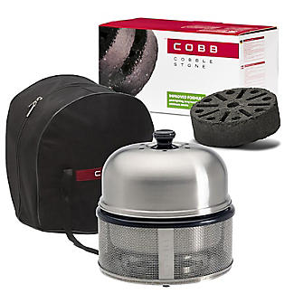 Cobb Premier Charcoal Barbecue Grill and 6 Cobblestones Bundle