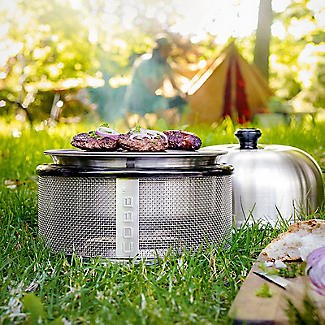 Cobb Premier Charcoal Barbecue Grill and 6 Cobblestones Bundle alt image 8