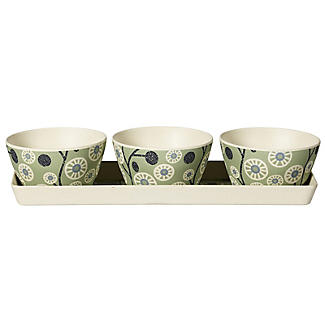 Lakeland Cherry Flower Bamboo Serving Set alt image 4