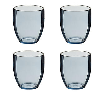 4 Lakeland Smoky Blue Acrylic Tumblers Set