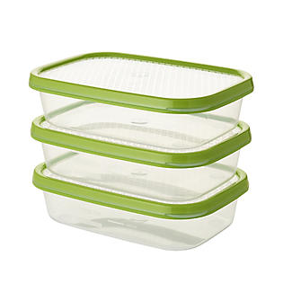 Lakeland 3pc Colour Match Lidded Food Storage Containers 800ml