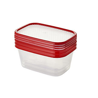 Lakeland 3pc Colour Match Lidded Food Storage Containers 1L alt image 3
