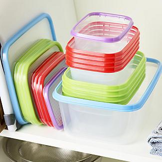 Lakeland 3pc Colour Match Lidded Food Storage Containers 1L alt image 8
