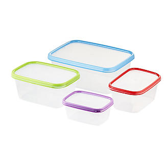 Lakeland 4pc Colour Match Lidded Food Storage Containers Set
