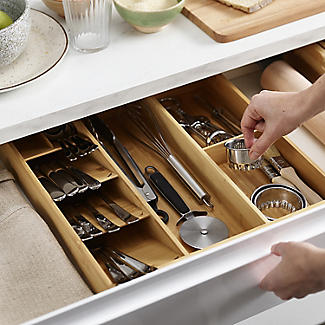 Joseph Joseph Drawerstore Bamboo Compact Cutlery & Utensil Organiser alt image 2