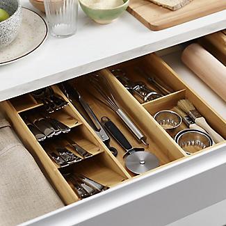 Joseph Joseph Drawerstore Bamboo Compact Cutlery & Utensil Organiser alt image 3