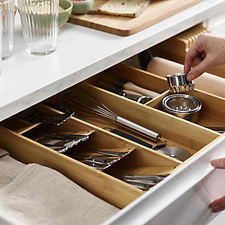 Joseph Joseph Drawerstore Bamboo Compact Cutlery & Utensil Organiser alt image 4