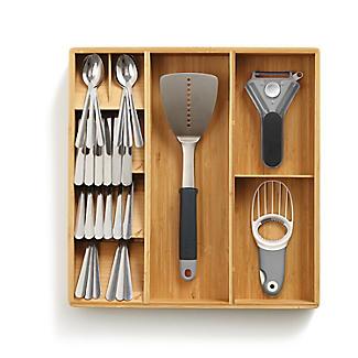 Joseph Joseph Drawerstore Bamboo Compact Cutlery & Utensil Organiser alt image 5