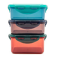 LocknLock Eco Oblong Food Storage Containers – 3-Piece Set