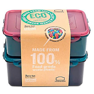 LocknLock Eco Oblong Food Storage Containers – 2-Piece Set  alt image 2