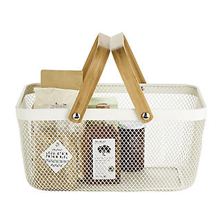 Lakeland Large Metal Mesh Basket – Cream