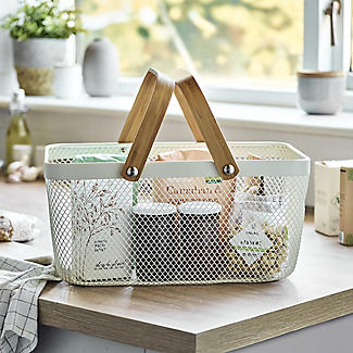 Lakeland Large Metal Mesh Basket – Cream alt image 2