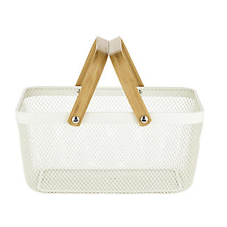 Lakeland Large Metal Mesh Basket – Cream alt image 3