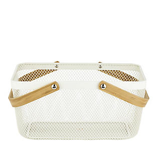 Lakeland Large Metal Mesh Basket – Cream alt image 4