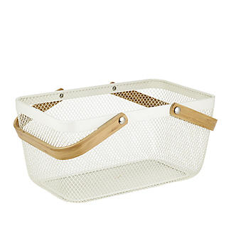 Lakeland Large Metal Mesh Basket – Cream alt image 5