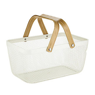 Lakeland Large Metal Mesh Basket – Cream alt image 6