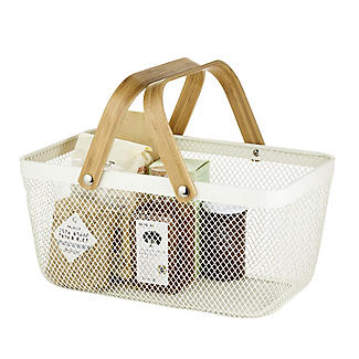 Lakeland Large Metal Mesh Basket – Cream alt image 7