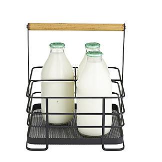 Lakeland Black Mesh Metal Milk Bottle Holder