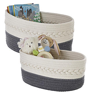 Lakeland Oval Rope Baskets – Pack of 2