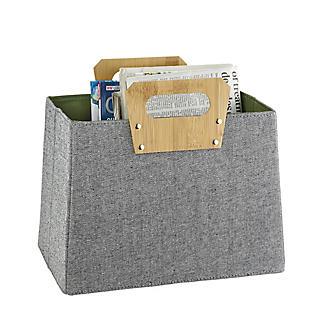 Lakeland Foldable Basket with Bamboo Handles