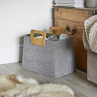 Lakeland Foldable Basket with Bamboo Handles alt image 2