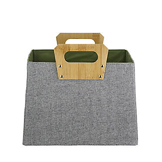 Lakeland Foldable Basket with Bamboo Handles alt image 3