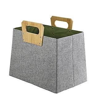 Lakeland Foldable Basket with Bamboo Handles alt image 5