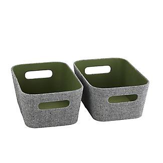 Lakeland 3 Grey & Green Storage Baskets alt image 3