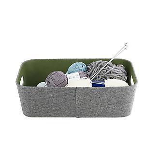 Lakeland 3 Grey & Green Storage Baskets alt image 6