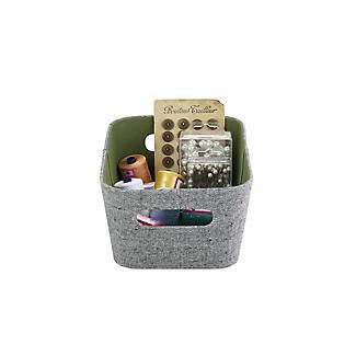 Lakeland 3 Grey & Green Storage Baskets alt image 7