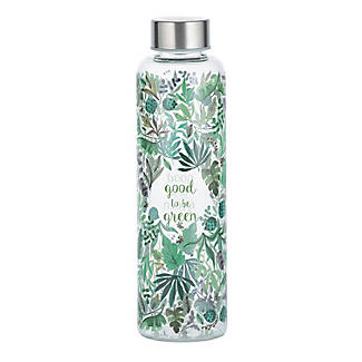Typhoon Good to be Green Glass Water Bottle 600ml alt image 5