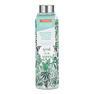 Typhoon Good to be Green Glass Water Bottle 600ml alt image 6