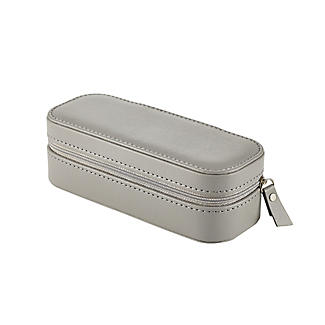 Dark Grey Faux Leather Travel Jewellery Case alt image 3