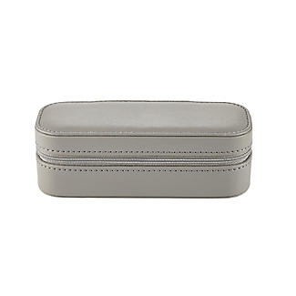 Dark Grey Faux Leather Travel Jewellery Case alt image 4