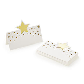 12 Talking Tables Gold Star Place Cards alt image 1