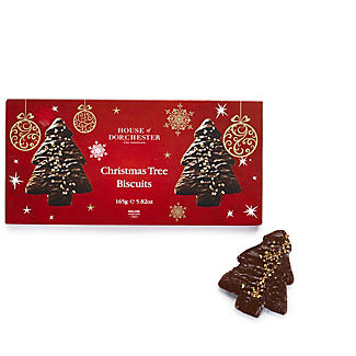 House of Dorchester Dark Chocolate Christmas Tree Biscuits – 165g