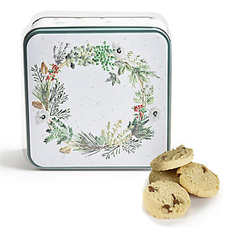 Lakeland Embossed Wreath Biscuit Tin – 160g